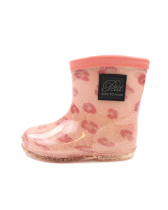 Petit by Sofie Schnoor Pink Leopard Glitter Rubber Boots