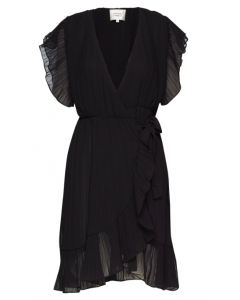 Second Female Mounce Wrap Dress Black