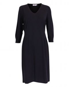 Filippa K Pleat Waist Navy Dress