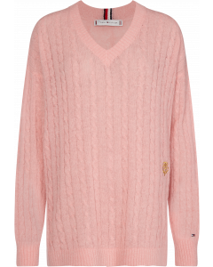 Tommy Hilfiger Essential Cable Sweater Rose
